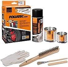 FoliaTec ft2170Pinza de freno pintura laca, carbon-grey metálico, juego de 3