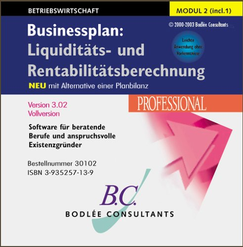 Businessplan 4.02: Liquiditäts- und Rentabilitätsberechnung