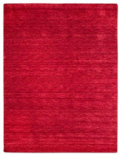 Morgenland Gabbeh Teppich UNI 200 x 140 cm Rot Rosa Einfarbig Melierung Modern Orient Teppich...