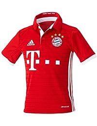 adidas H Jsy Y Camiseta 1º Equipación del Bayern Fc, Niños, Rojo / Blanco, 11-12 años