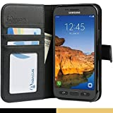 Abacus24-7 Galaxy S7 ACTIVE Case Wallet w/ Leather Flip Cover & Stand Black