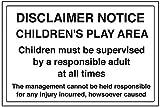 vsafety 72028ba-s Allgemeine Informationen Sign Haftungsausschluss Merken,/für Kinder, selbstklebend, Landschaft, 300mm x 200mm x 200mm, schwarz