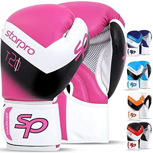 Starpro Boxhandschuhe Muay Thai Training Boxsack - Ideal für Kickboxen, Sparring, Sandsack Punchinghandschuhe Mitts Boxing Gloves | Männer und Frauen |
