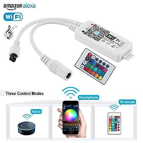 Mini Wireless Wifi RGB Led Kontrolleur Fernbedienung Arbeiten Controller mit Android und IOS System 5V-28V Für 3528 5050 RGB LED Streifen Licht