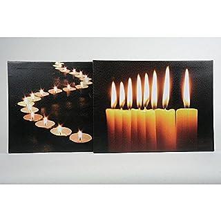 LED-Bilder 2er Set mit zwei Motiven je 30x40cm beleuchtet mit Flacker LEDs