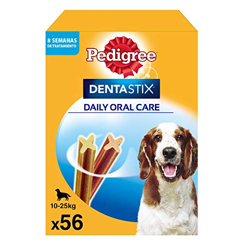Pedigree Dentastix de uso diario para higiene oral para perros medianos - 56 sticks