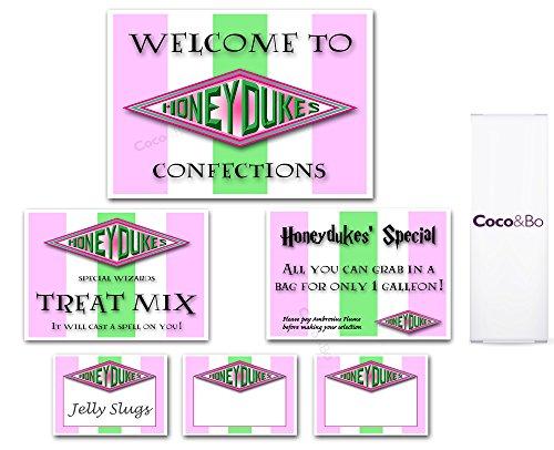 Ttema decoraciones de mesa de fiesta–Señal de bienvenida, ajuste oferta especial de escena Signs & en blanco tarjetas de S