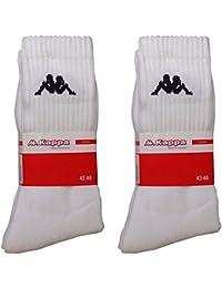 Kappa - Pack de calcetines de deporte talla 39-42 / 6 pares blanco