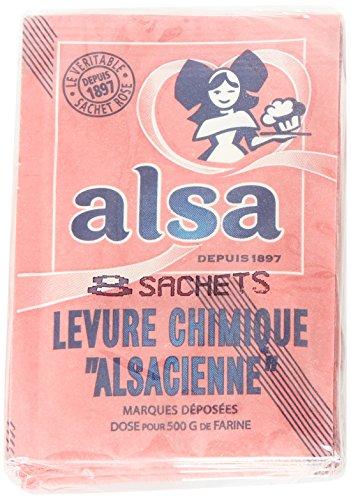 Alsa Levure Chimique Alsacienne 8 Sachets 88 g - Lot de 6