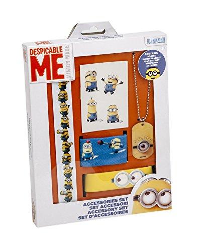 Joy Toy 90046 - Minions Accessoiresset - 5 teilig in Geschenkpackung Schmucksets 18.5 x 2.5 x 25.5 cm