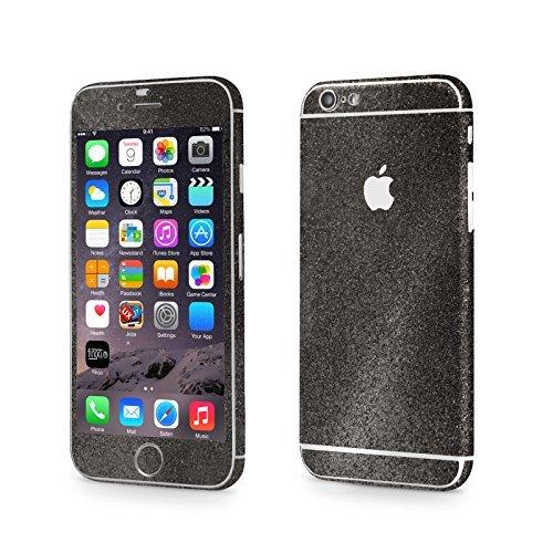 FINOO Adesivo glitterato per iPhone - arcobaleno, iPhone 6/6S Nero
