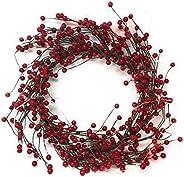 Link Products Rubin röd Fuskbärkransar, Diameter: 48 cm