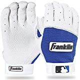Franklin Sports MLB Pro Classic Batting Handschuhe (Paar) Glove, Pearl/Royal Erwachsene L