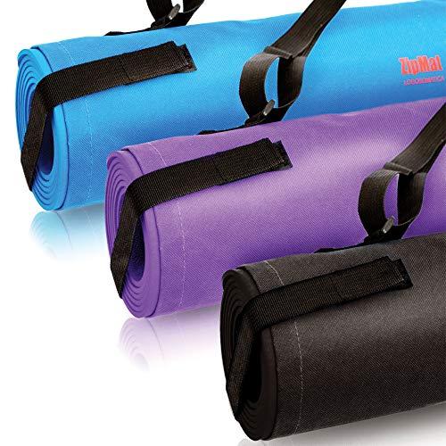 Tappetino Palestra Fitness Yoga Pilates Antiscivolo Professionale Borsa da Viaggio Resistente Lavabile Elastico Ginnastica Esercizi Fisici