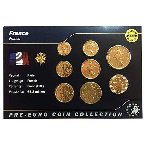 0ae04daebc IMPACTO COLECCIONABLES Monete Pre Euro della Francia bagnate in Oro 24  Carati - 8 Monete Originali