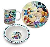 Disney Mickey Mouse 3 tlg Porzellan Geschirr