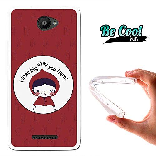 Becool® Fun - Funda Gel Flexible para Bq Aquaris U - U Lite, Carcasa TPU fabricada con la mejor Silicona, protege y se adapta a la perfección a tu Smartphone y con nuestro exclusivo diseño. Caperucita Roja