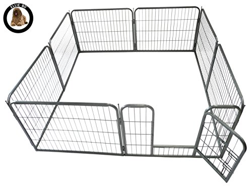Ellie-Bo Heavy Duty Modular Puppy Exercise Play/Whelping Pen, 158 x 158 x 60 cm, 8 Pieces 1