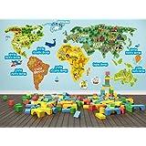 1319 Mapa del mundo para los cuartos de los ninos