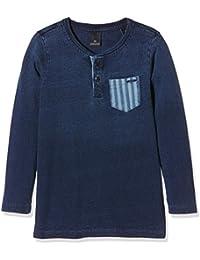 Scotch Shrunk Jungen T-Shirt Heavy Jersey Indigo Tee with Woven Pocket