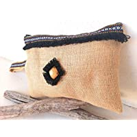 Idea de regalo: bolsa de arpillera bohemia para un efecto natural y boho-chic: clutch con correa regalo para ella regalo mujer regalos navidad