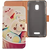 Lankashi PU Flip Leder Tasche Hülle Case Cover Schutz Handy Etui Skin Für Alcatel One Touch Pop Star 5022D 3G 5' Lovely Design