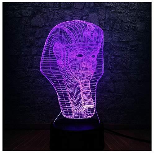 Nachtlicht NachttischLampe 3D Ägyptischen Sphinx Pharao Led Lampe Usb Nachtlicht Touch Remote Rgb Controller Farbwechsel Raum Dekor Geschenk -