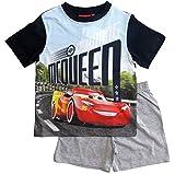 Cars Disney 3 Kollektion 2018 Ökotex Standard 100 Schlafanzug 92 98 104 110 116 122 128 Pyjama Kurz Shortie Shorty Lightning McQueen Jungen (Blau-Grau, 98)