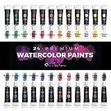 Castle Art Supplies, Aquarellfarben-Tuben-Set/Malkasten für Profis oder Anfänger - 24 konzentrierte lebendige Farben