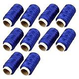 Inicio Herramienta de bordado azul real del hilo Bobina de cordaje Costurero 10 Carretes