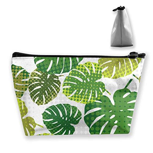 Bohemia Polka Dots Tropical Palm Leaves Mehrzweckstift Bleistift Taschen Zubehör Tasche Make-up Tragetasche Palm Dot