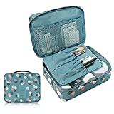 Styleys Travel Cosmetic Makeup Toiletry Case Wash Organizer Storage Pouch Toiletry Bag Travel Organizer Toiletry Kit Travel Bag Travel Toiletry Bag Unisex (Blue Flower)