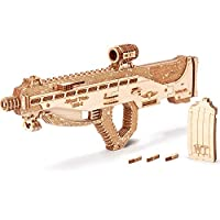 Wood Trick Assault Rifle Gun Wooden Model - Guns for Kids, Toy Guns - 3D Wooden Puzzle Mechanical Model to Build, Eco Wooden Toys, Brain Teaser for Adults and Kids