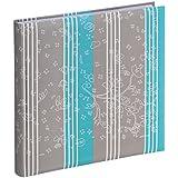 Hama Curly - Álbum de fotografía (30 x 30 cm, 60 hojas), color gris y azul