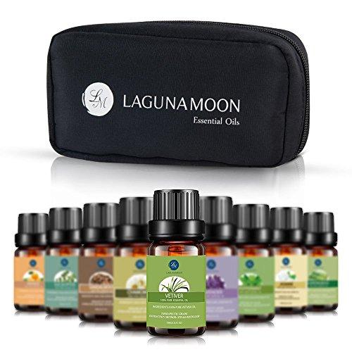 Lagunamoon Olio Essenziale, Top 10 Set di Olio Essenziale Aromaterapia di Lavanda,...