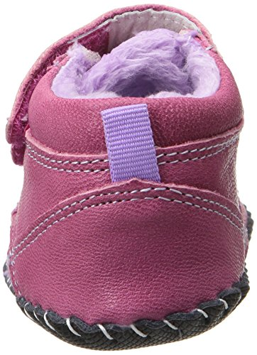 Pediped Originals Lionel Fuchsia Leather Soft Soles Fuchsia