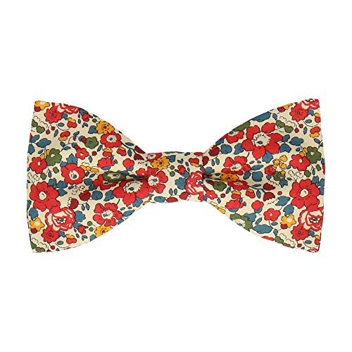 Mrs Bow Tie Betsy Liberty Fliege, Selbstbinde Fliege - Rot Rote Paisley Bow
