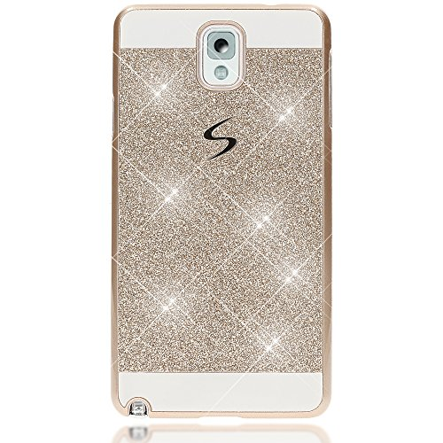 iPhone 6 6S Coque Protection de NICA, Ultra-Fine Glitter Housse Slim Hardcase Paillettes Cover, Etui Rigide Anti-choc Strass Bumper Mince pour Telephone Portable Apple iPhone 6S 6, Couleur:Argent Gold Or