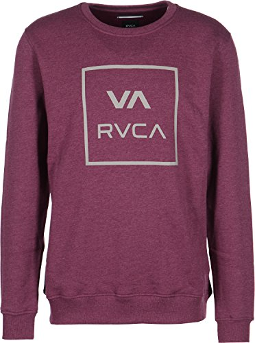 rvca-va-all-the-way-sweater-m-tawny-port