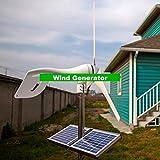 Gowe klein Wind Generator für Boot, Wind Mill Generator kombiniert mit Wind/Solar Hybrid Controller