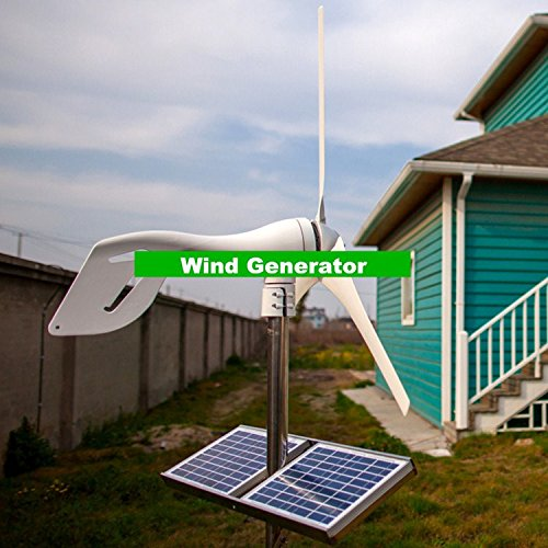 Gowe klein Wind Generator für Boot, Wind Mill Generator kombiniert mit Wind/Solar Hybrid Controller (Generatoren Kleine)