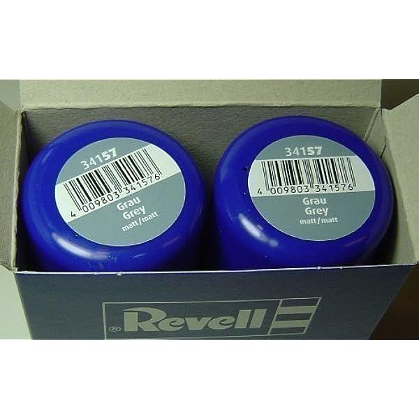 Revell 34157 Sprühlack Doppelpack 2x100ml Grau Matt Spielzeug