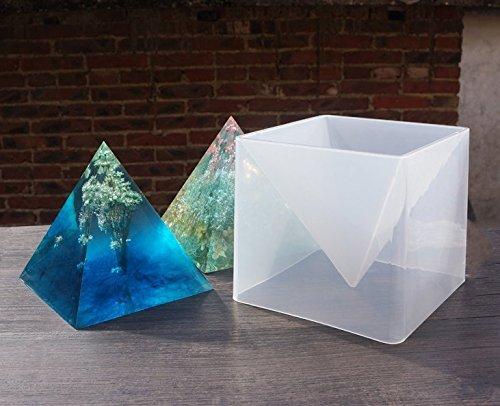 MTSZZF Super Pir?mide forma molde de silicona resina de cristal DIY Making Craft herramienta