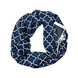 Schal,Sasstaids Damen Print Winter Convertible Infinity Schal Pocket Loop Zipper Pocket Schals