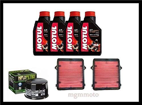 Tecneco Kit Honda Africa Twin 1000 Huile motul 7100 15 W50 Filtre air Huile