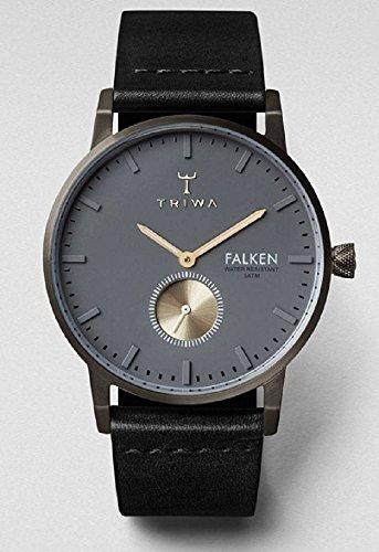 Triwa Walter Falken Unisexe Montre classique en cuir noir avec bande fast102cl010113