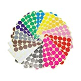 LJY 32millimeter klein rund Dot selbstklebend Gel Kennzeichnung Farbe Etiketten, 12verschiedene