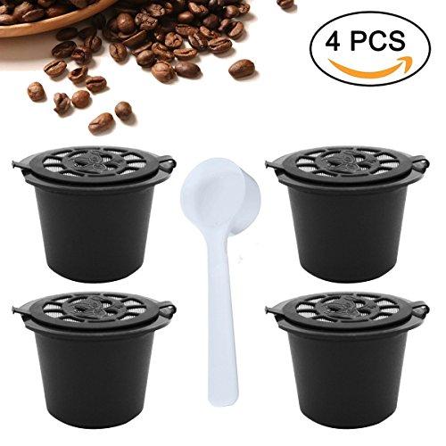 Cápsulas de café monodosis recargables, reutilizables, compatibles con cafeteras Nespresso