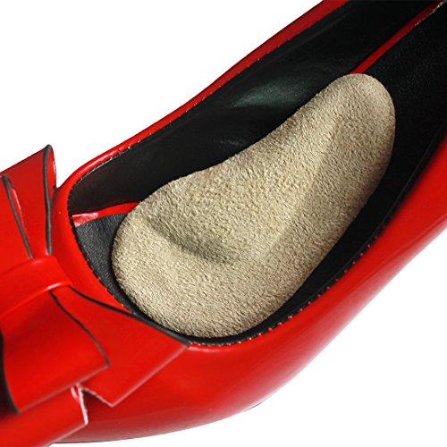 Preisvergleich Produktbild footinsole Arch Support Einlegesohlen Pu Gel Fuß Wildleder Einlegesohlen für gefallene Bögen - 1 Paar