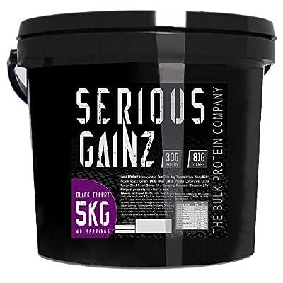 The Bulk Protein Company Serious Gainz Mass Gainer Powder, Chocolate, 5 kg
